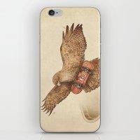 hawk iPhone & iPod Skins featuring Hawk by Terry Fan