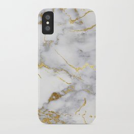Italian gold marble iPhone Case