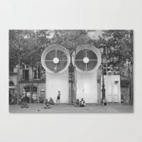 PEOPLE OF PARIS Canvas Print