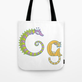 G Uppercase/Lowercase Pair, no border Tote Bag
