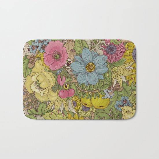 the wild side - spring tones Bath Mat