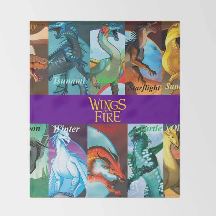 Wings Of Fire All Dragon Throw Blanket By Danieljohnsons