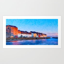 End Of A Beautiful Day In Galway Ireland On The Seaside Art Print