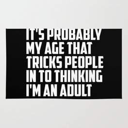 adult funny saying and quote Rug