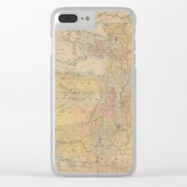 Vintage Map of The Puget Sound (1891) Clear iPhone Case