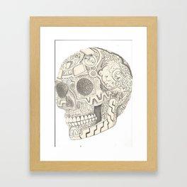 Skull, aztec design Framed Art Print
