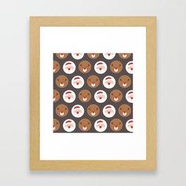 Santa's Slaves III (Patterns Please) Framed Art Print