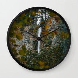 Multnomah Falls Autumn Wall Clock