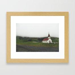 Icelandic Church Framed Art Print