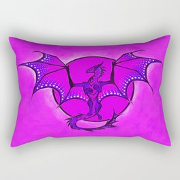Moon Dragon Rectangular Pillow