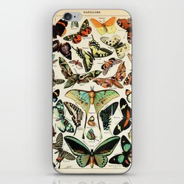 Papillon I Vintage French Butterfly Charts by Adolphe Millot iPhone Skin