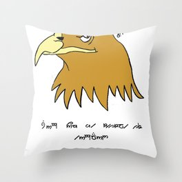 The Eagle and England Throw Pillow