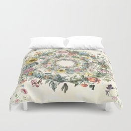 Circle of Life Cream Duvet Cover