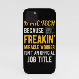 Funny Hvac Technician iPhone Case