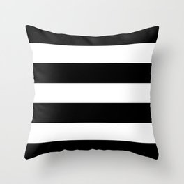 Black and White Large Stripes Throw Pillow