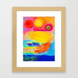 Sunstorm in the Gulf of Mexico Framed Art Print