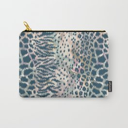 Animal skin ikat pattern Carry-All Pouch
