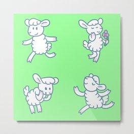 Stickimals - Sheep Metal Print