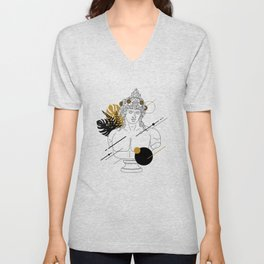 Dionysus (Bacchus). Creative Illustration In Geometric And Line Art Style Unisex V-Neck