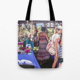 Shopping At The Markets Tote Bag