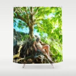 0789f-JAS Tree of Life Energy Flow Visualized Shower Curtain