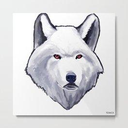 Wolfy Metal Print