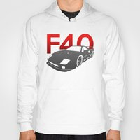 ferrari Hoodies featuring Ferrari F40 by Vehicle