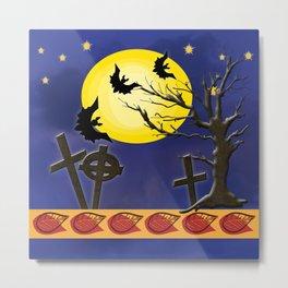 Spooky Graveyard Metal Print