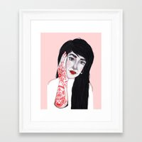 russian Framed Art Prints featuring Russian Doll by scoobtoobins