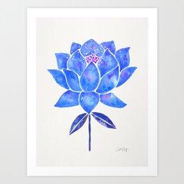 Sacred Lotus – Blue Blossom Art Print