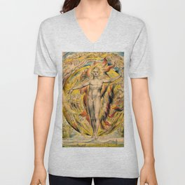 William Blake - The Sun at His Eastern Gate -Digital Remastered Edition Unisex V-Neck