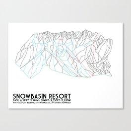 Snowbasin, UT - Minimalist Trail Art Canvas Print