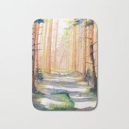Down The Forest Path Bath Mat
