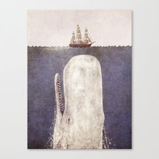 The Whale - exclusive purple variant  Canvas Print