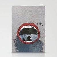 mouth Stationery Cards featuring Mouth  by Eliska Podzimkova
