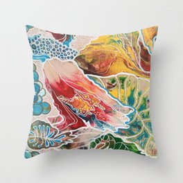 Oriental Garden 2 Throw Pillow