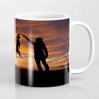 workout Mugs featuring Sunset Workout by Sandy Broenimann