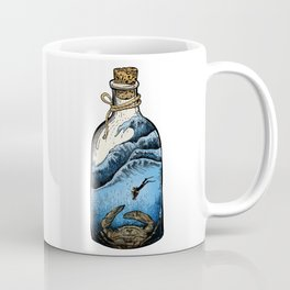 Deep blue bottle Coffee Mug