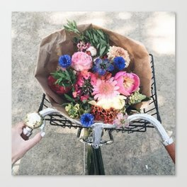 Bike flower Canvas Print