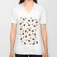 bunnies V-neck T-shirts featuring Bunnies! by Kashidoodles Creations