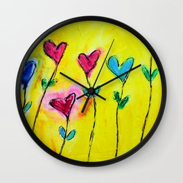 Amor de colores Wall Clock