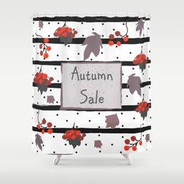 Autumn Sale. Advertising Card Shower Curtain