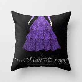 The man or the crown  Throw Pillow
