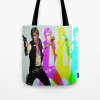 han solo Tote Bags featuring Han Solo by Iotara