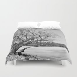 By The Frozen Pond Duvet Cover