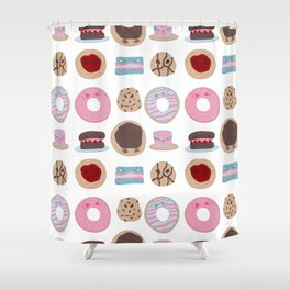 Evil Desserts Shower Curtain