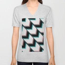 Black and white modern pattern Unisex V-Neck