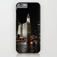 Wrigley Building and Chicago River at Night Color Photo Slim Case iPhone 6s