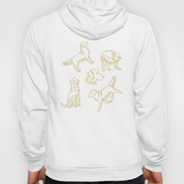 Golden Retriever Pattern (Teal Background) Hoody