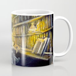 Hermione studying in the library Coffee Mug